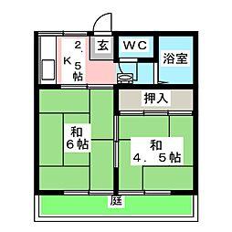 伊藤ハイツI[1階]の間取り