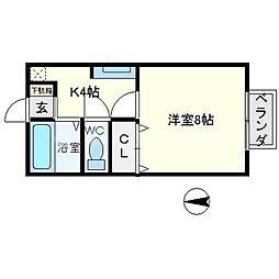 コスモハウス[1階]の間取り