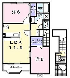 アルシオネ 響[2階]の間取り