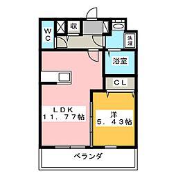 メゾンベールII[1階]の間取り