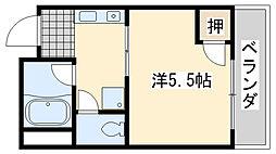 ローブル尾崎[2C号室]の間取り