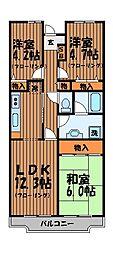 東京都三鷹市上連雀5丁目の賃貸マンションの間取り