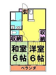 ワイズ[3階]の間取り