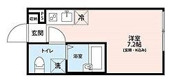 アイディ蒲田(id蒲田)[1階]の間取り