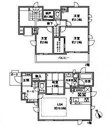 [一戸建] 神奈川県川崎市麻生区金程2丁目 の賃貸【/】の間取り