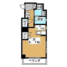 ベラジオ五条堀川[11階]の間取り