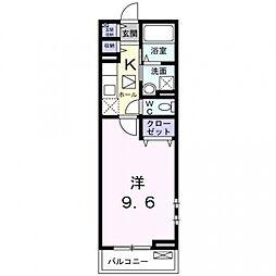 メゾン ボヌール 日新[1階]の間取り