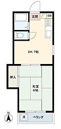 東京都渋谷区西原2丁目の賃貸アパートの間取り