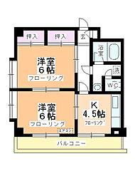 鶴ヶ島マンション[303号室]の間取り