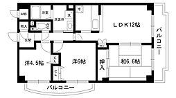 イーストハイムⅢ[3階]の間取り