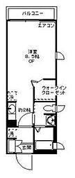 クレアーレ[2階]の間取り