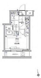 RELUXIA品川東大井 5階1Kの間取り