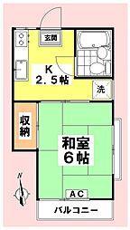 松岡アパート南[203号室]の間取り