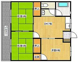 福寿コーポ[2階]の間取り
