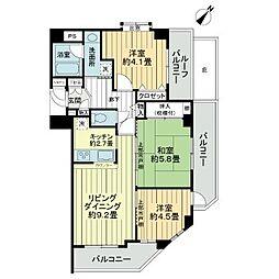 ライオンズプラザ竹ノ塚[3階]の間取り