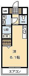 MS1[802号室]の間取り