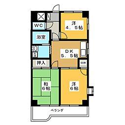 藤マンション[5階]の間取り