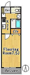 コスモピア2[2階]の間取り