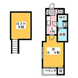 愛知県名古屋市南区桜本町の賃貸アパートの間取り