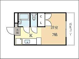 グレースYYU30[2階]の間取り