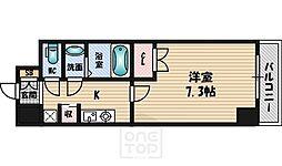 ファーストワン江坂[4階]の間取り