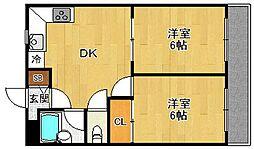 フローレンス西宮2[2階]の間取り