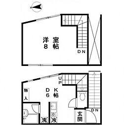ユーハコート小石川[2階]の間取り