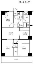 グランドゥル新川崎[2階]の間取り