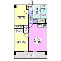 愛知県名古屋市緑区熊の前2丁目の賃貸マンションの間取り