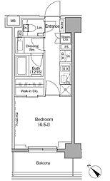 東京メトロ有楽町線 月島駅 徒歩1分の賃貸マンション 8階1Kの間取り
