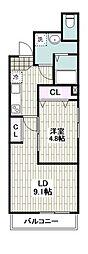 仮称)川崎区旭町1丁目計画 1階1Kの間取り