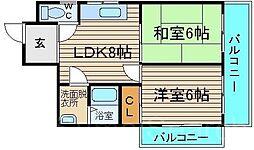 コンフォルト福田[2階]の間取り