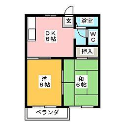 パルハウス[2階]の間取り