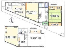 [一戸建] 東京都杉並区阿佐谷南2丁目 の賃貸【東京都 / 杉並区】の間取り