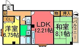 東京都江戸川区松島2丁目の賃貸マンションの間取り