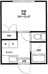 千駄木本郷荘[305号室]の間取り