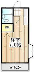 神奈川県伊勢原市東成瀬の賃貸アパートの間取り