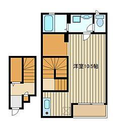 東京都練馬区東大泉2の賃貸アパートの間取り