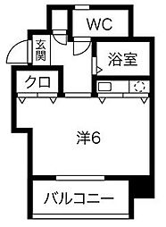 ロマネスク平尾第3[4階]の間取り