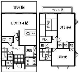 [テラスハウス] 大阪府岸和田市土生町 の賃貸【/】の間取り