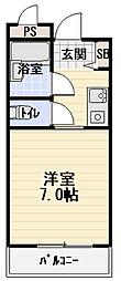 カーサ西郷[4階]の間取り