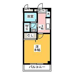 ルミエール・E[3階]の間取り