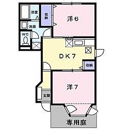 フォレスト・エマII[1階]の間取り