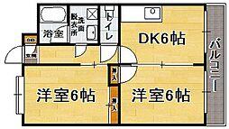 福岡県福岡市博多区板付6丁目の賃貸マンションの間取り