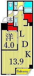 つくばエクスプレス 浅草駅 徒歩10分の賃貸マンション 3階1LDKの間取り