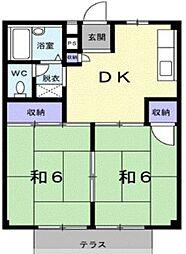 シティハイツASAHI(シティハイツアサヒ)[2階]の間取り