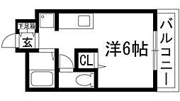 リベルテ桜井[3階]の間取り