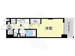 Luxe新大阪α 6階1Kの間取り