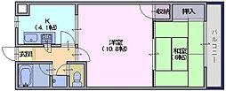 木村マンション[305号室]の間取り