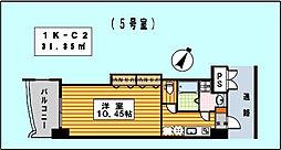ロイヤルリバービュー143[10階]の間取り